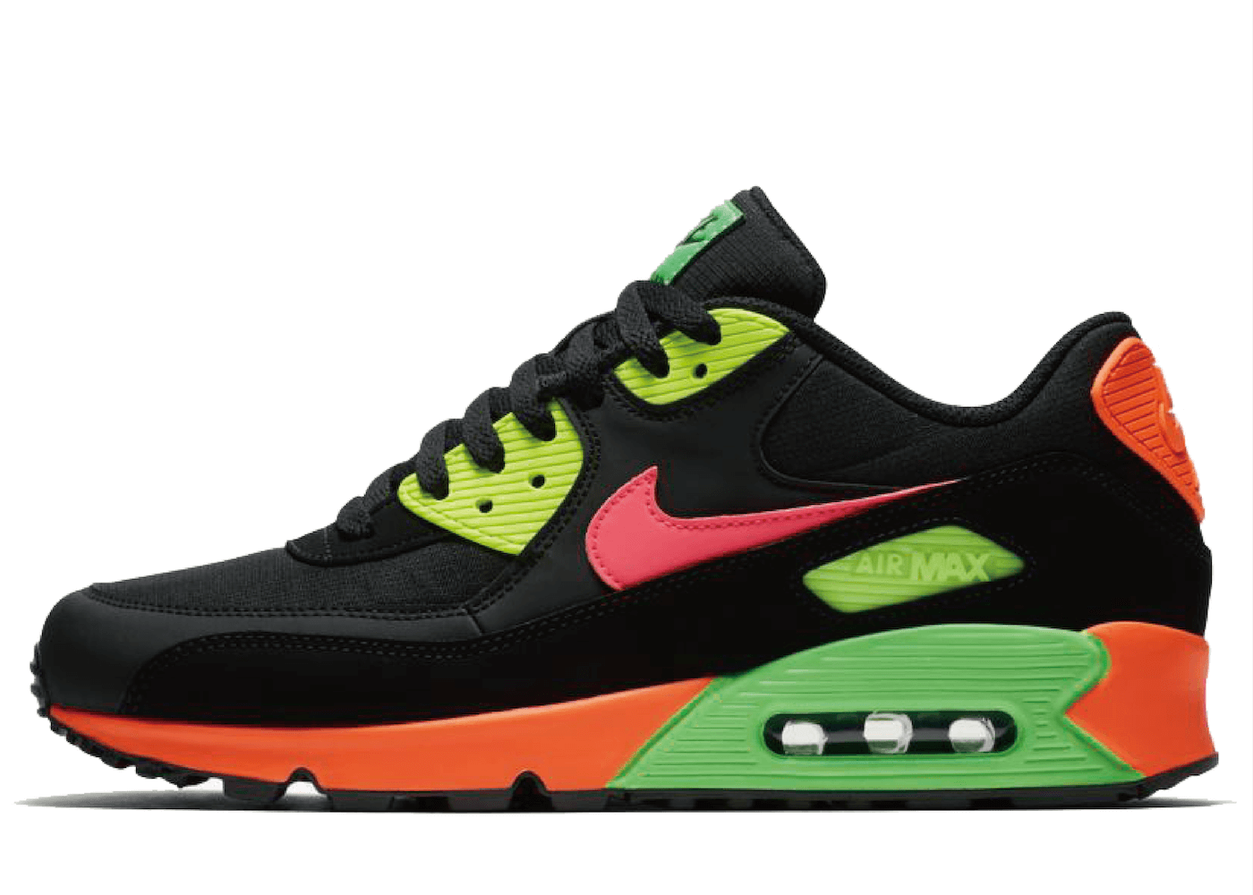 Nike Air Max 90 Neon Black Hyper Crimson Green Strikeの写真