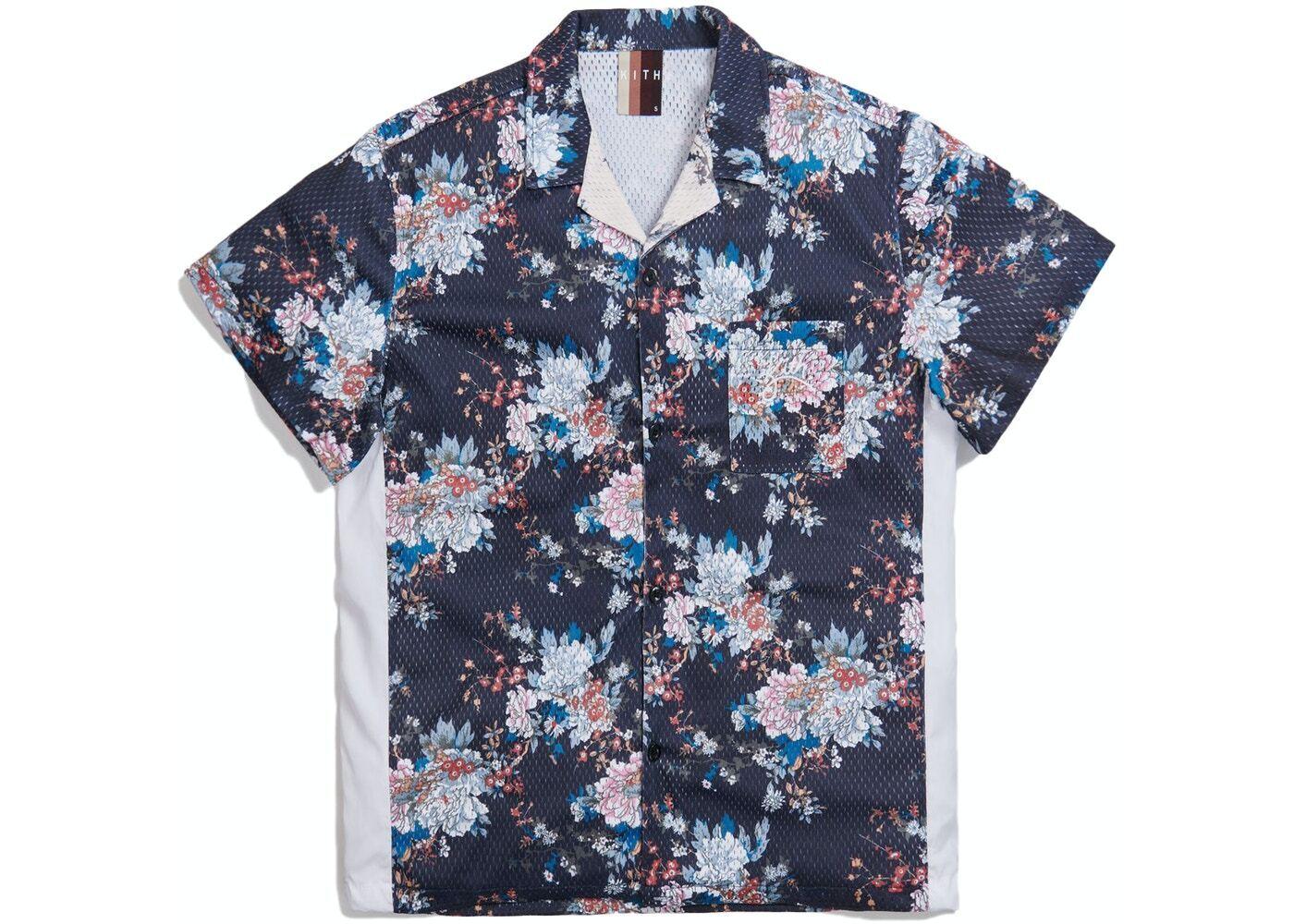 Kith Floral Panel Camp Shirt Navy/Multi の写真