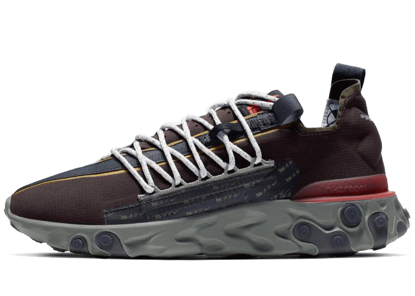 Nike ISPA React Low Velvet Brownの写真