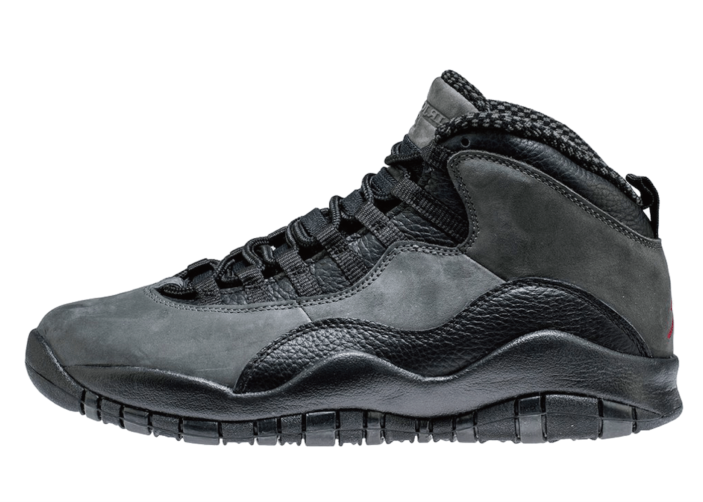 JORDAN 10 RETRO DARK SHADOW/BLACK-TRUE REDの写真