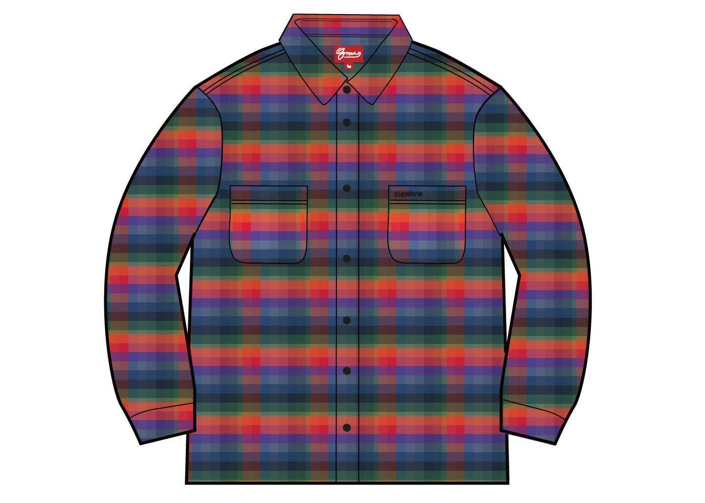 Supreme Plaid Flannel Shirt (SS21) Multicolorの写真