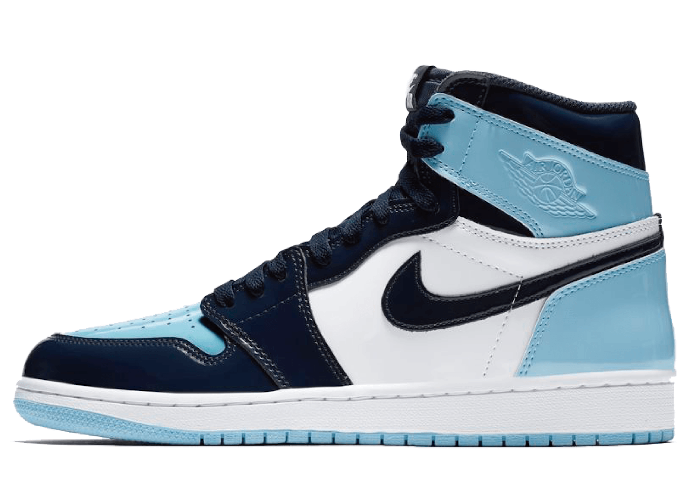 Nike Air Jordan 1 Retro High UNC Patent Womensの写真
