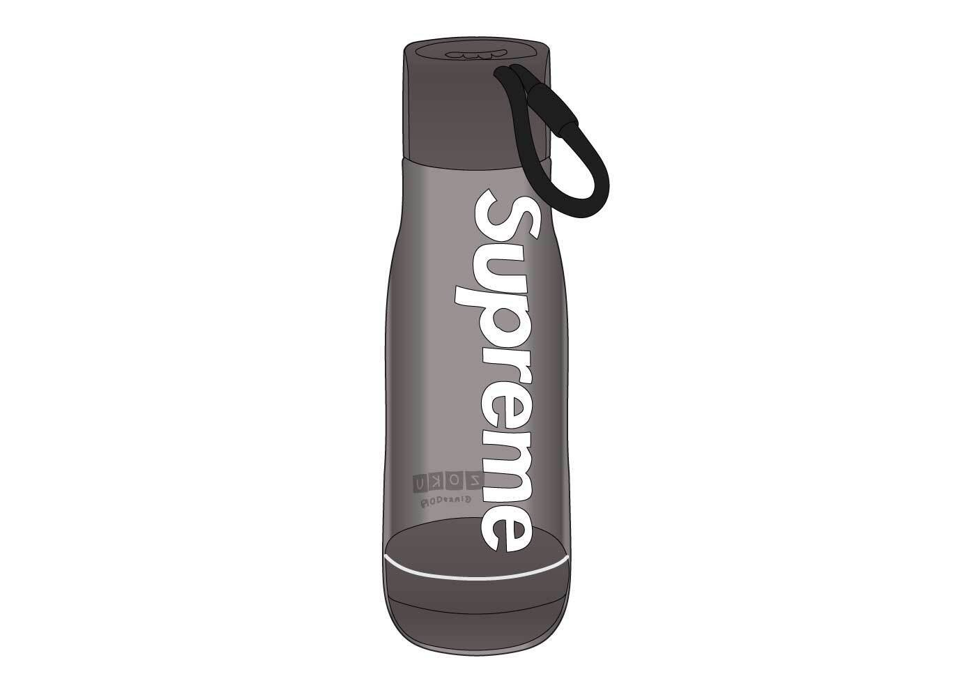 Supreme Zoku Glass Core 16 oz. Bottle Smokeの写真
