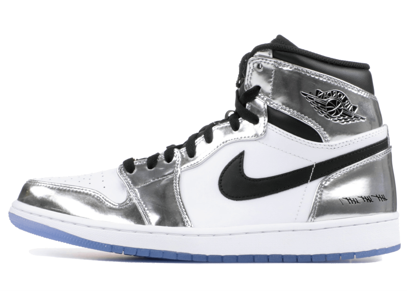 "JORDAN 1 HIGH ""PASS THE TORCH"" CHROME/WHITE-TURBO GREEN-BLACKの写真"
