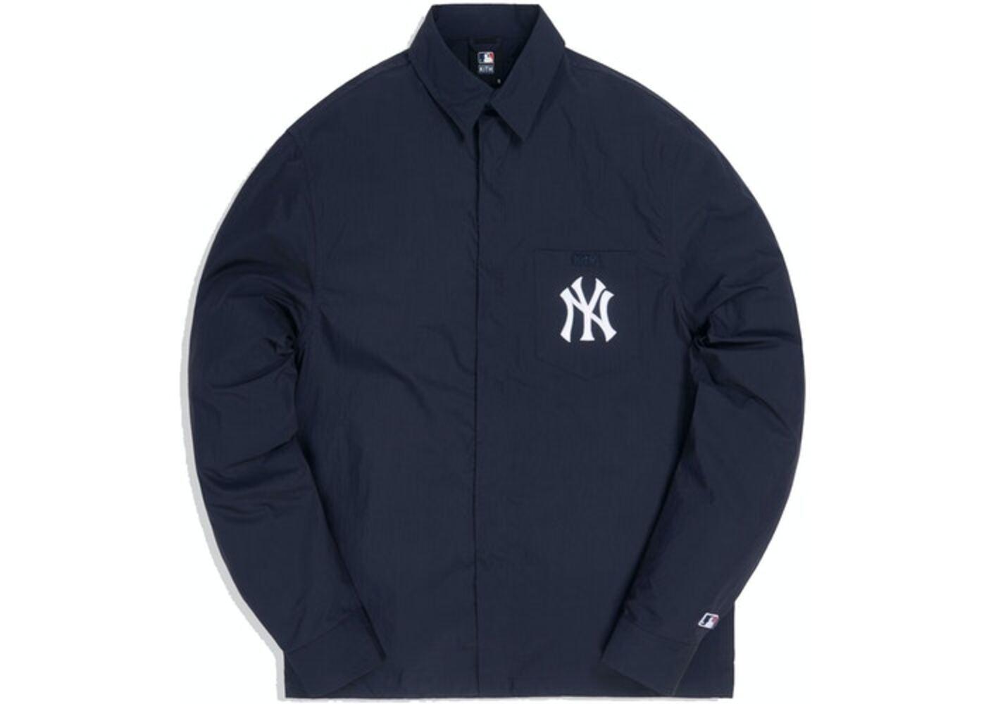 Kith For Major League Baseball New York Yankees Collared Buttondown Shirt Navyの写真