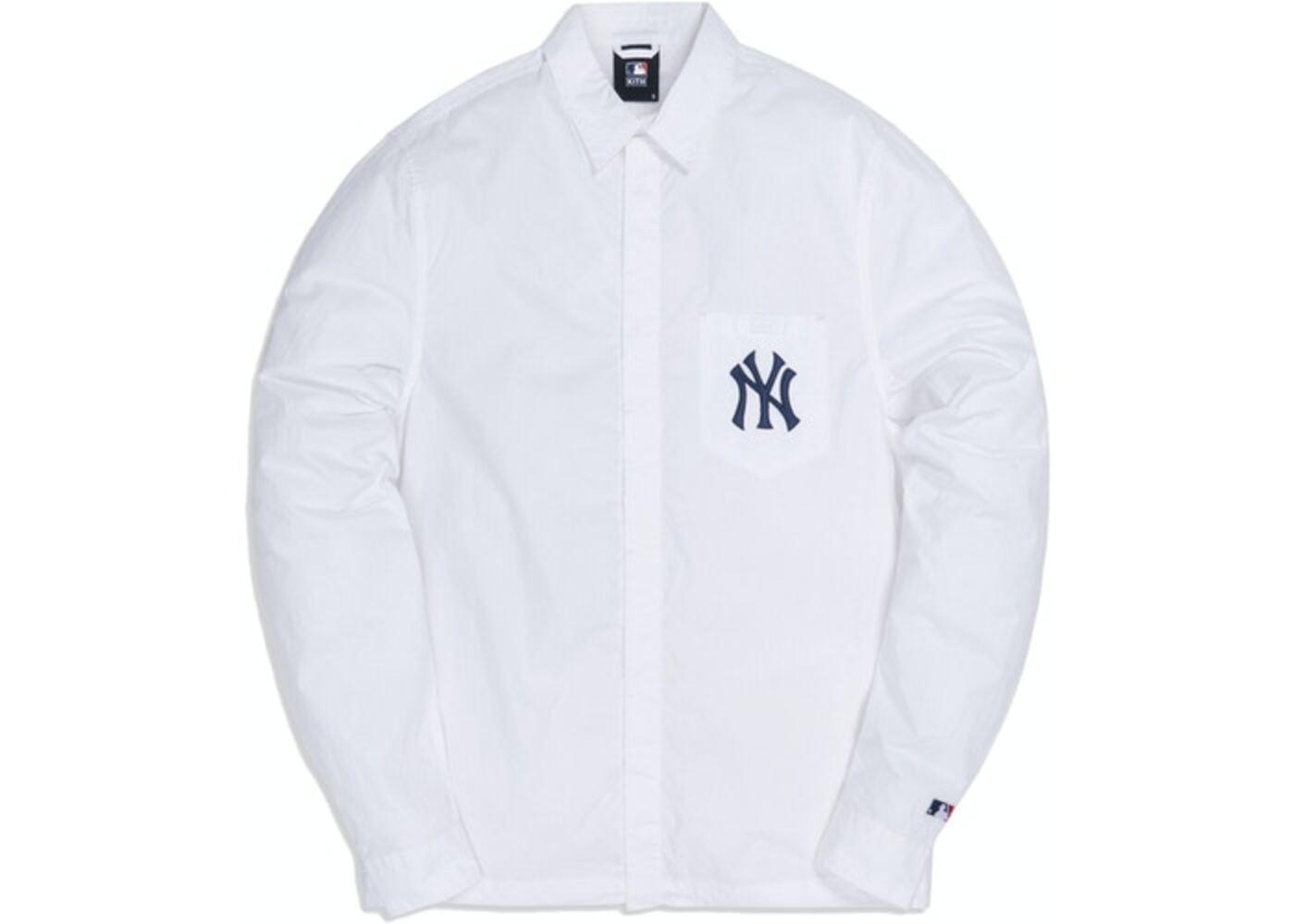 Kith For Major League Baseball New York Yankees Collared Buttondown Shirt Whiteの写真