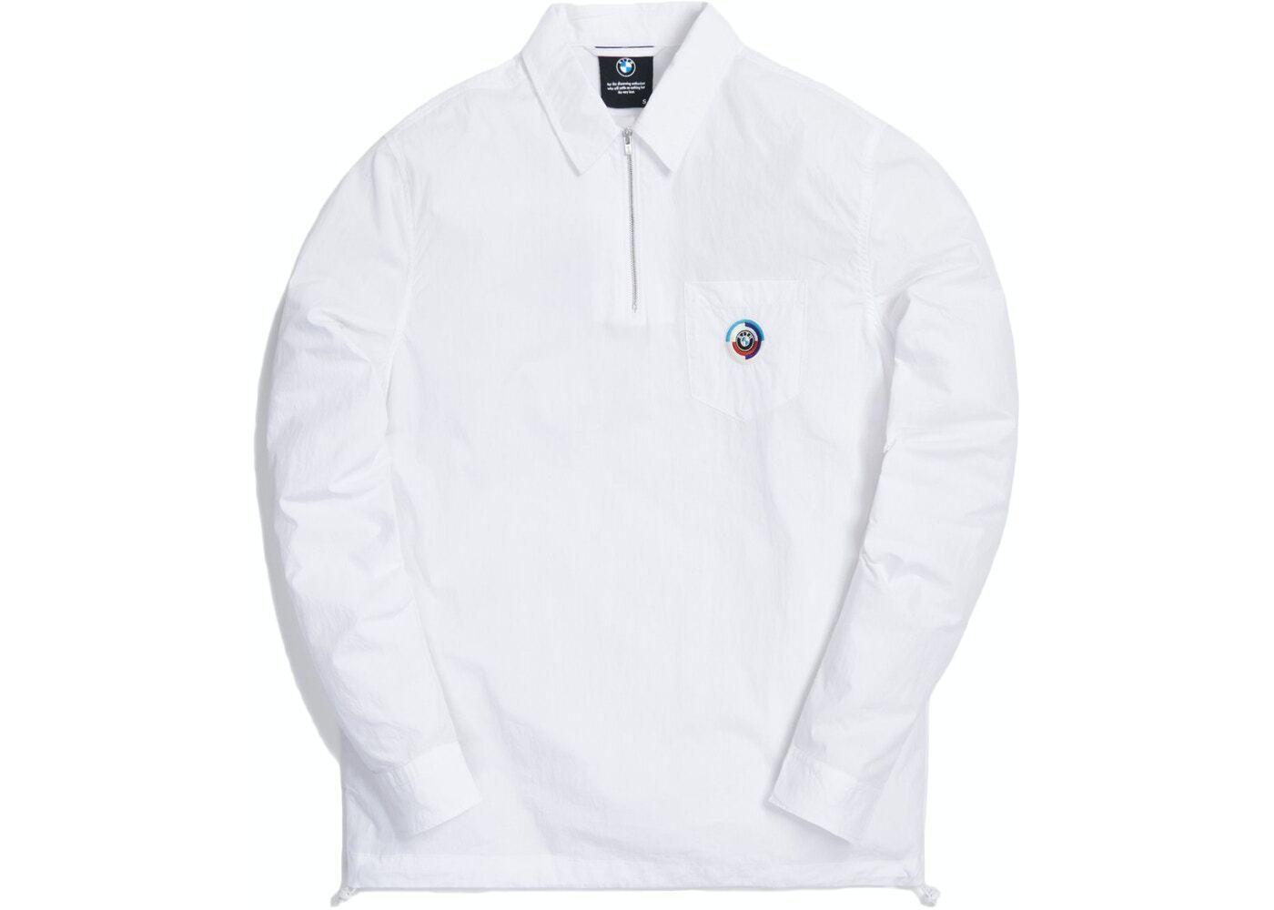 Kith x BMW Quarter Zip Collared Shirt Whiteの写真