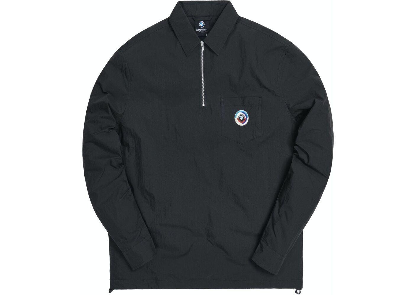 Kith x BMW Quarter Zip Collared Shirt Blackの写真