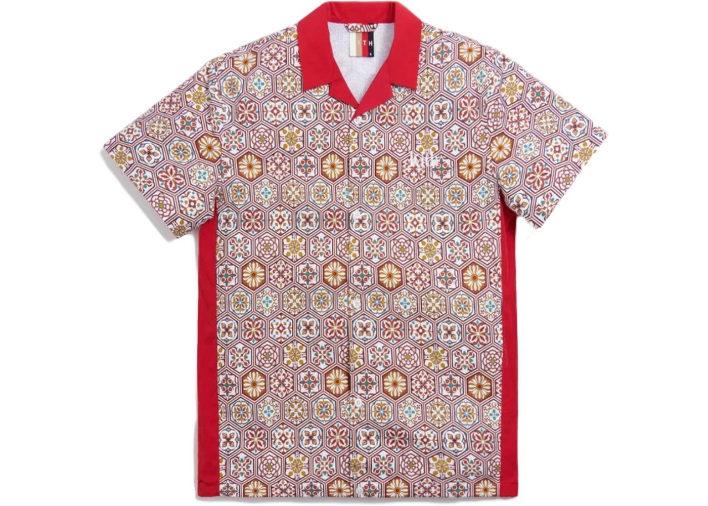 Kith Printed Camp Collar Shirt Brown/Multi の写真