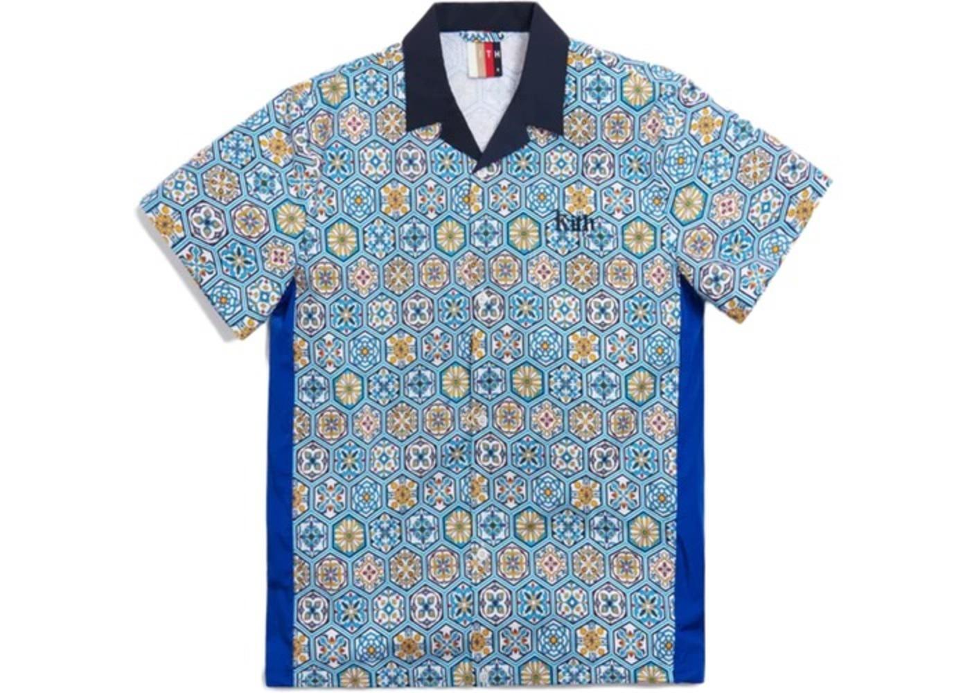 Kith Printed Camp Collar Shirt Blue/Multi の写真