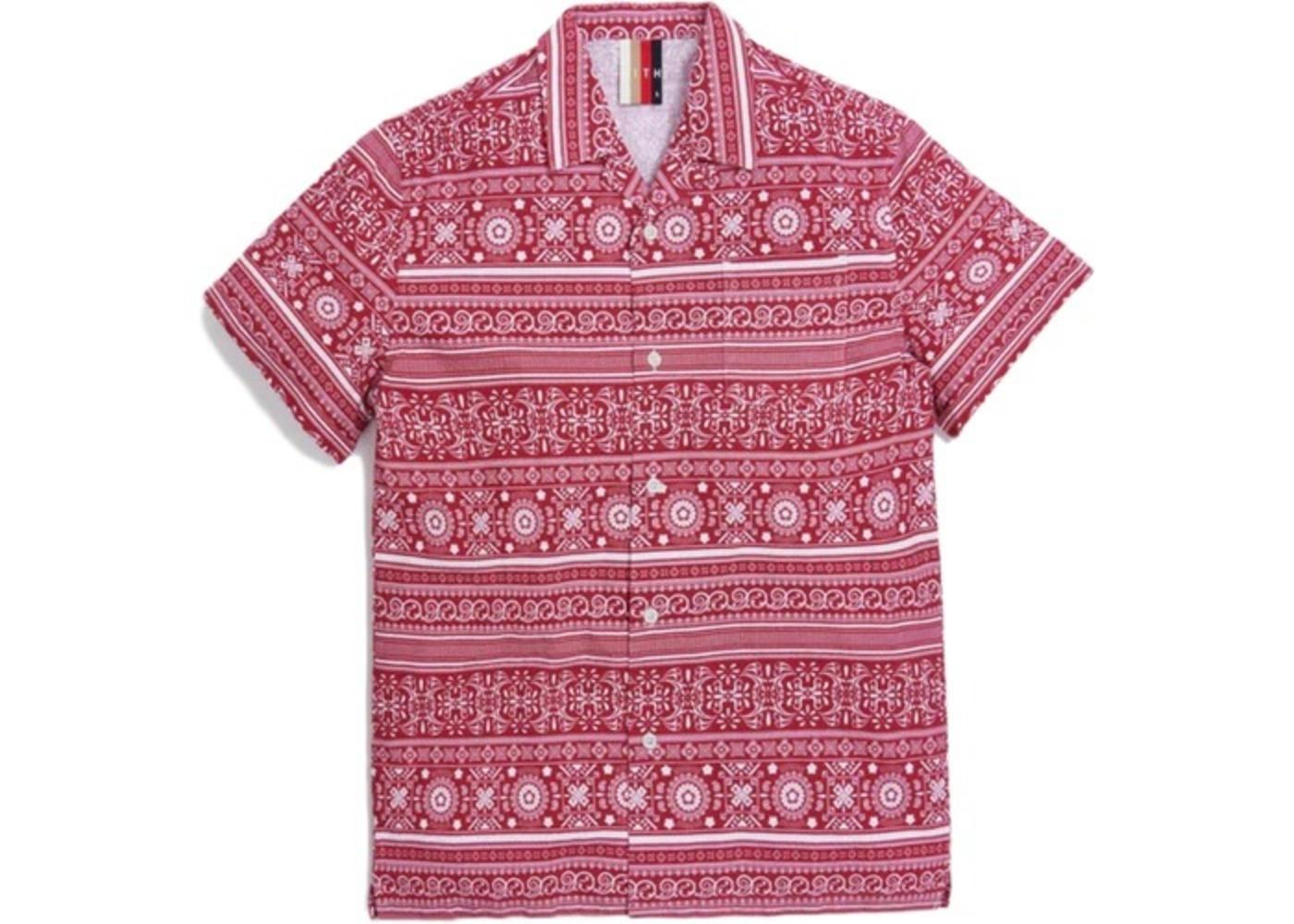 Kith Seersucker Camp Shirt Red/White の写真