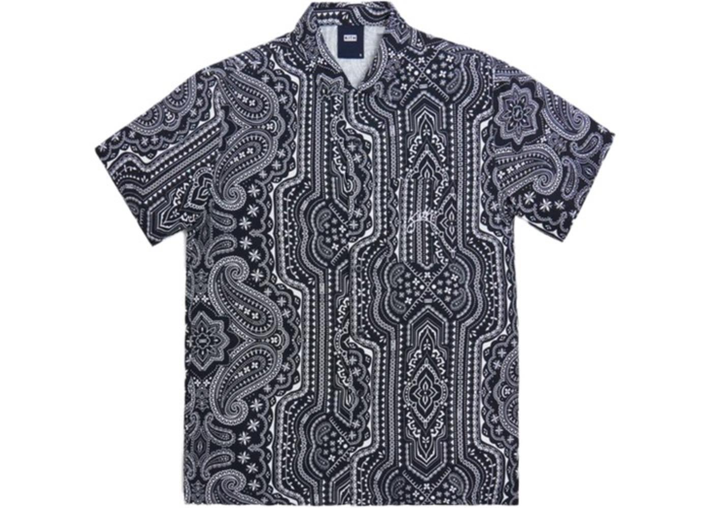 Kith Camp Collar Silk Cotton Shirt Black/Multi の写真