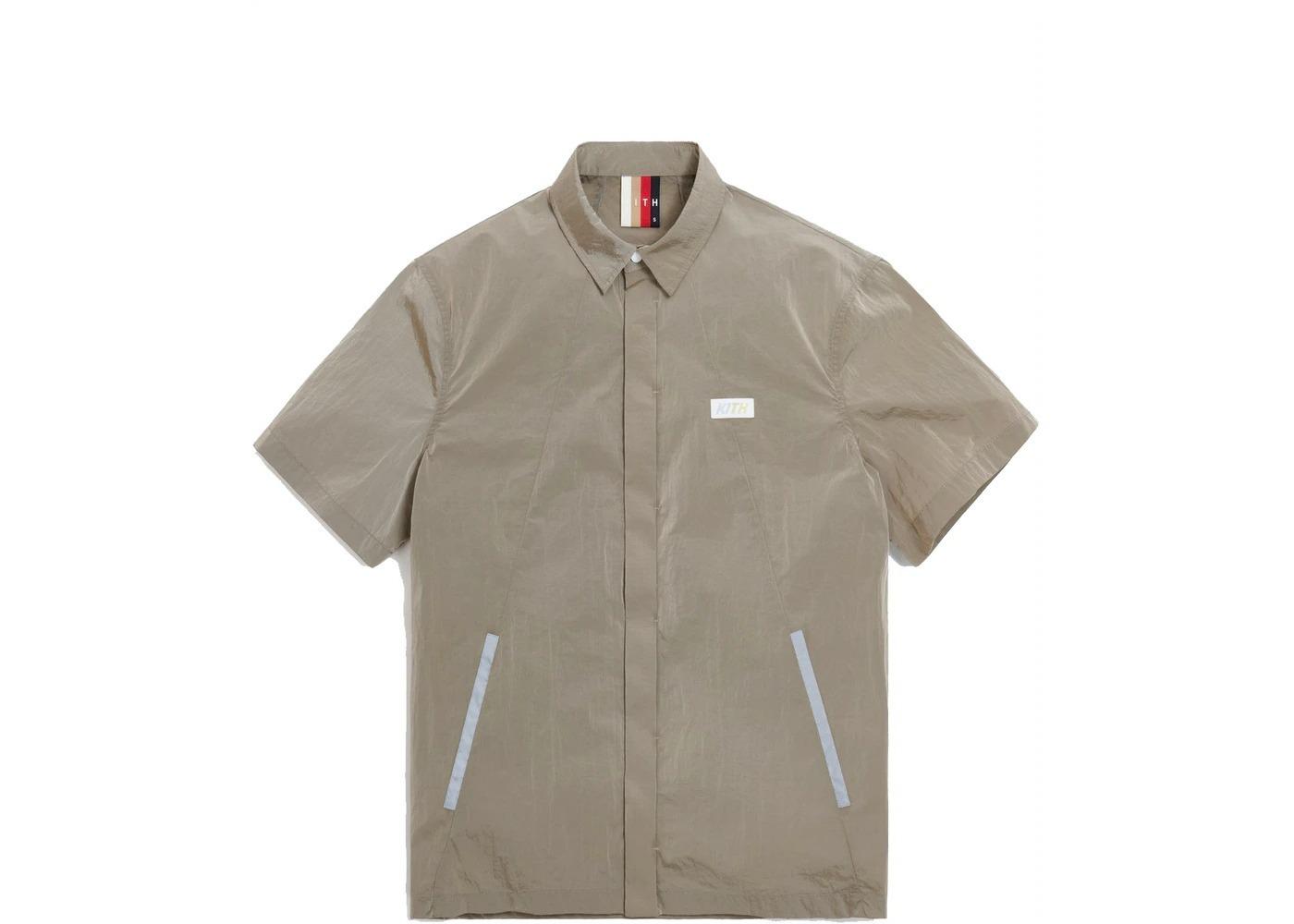 Kith Snap Front Wrinkle Nylon Shirt White Pepper の写真