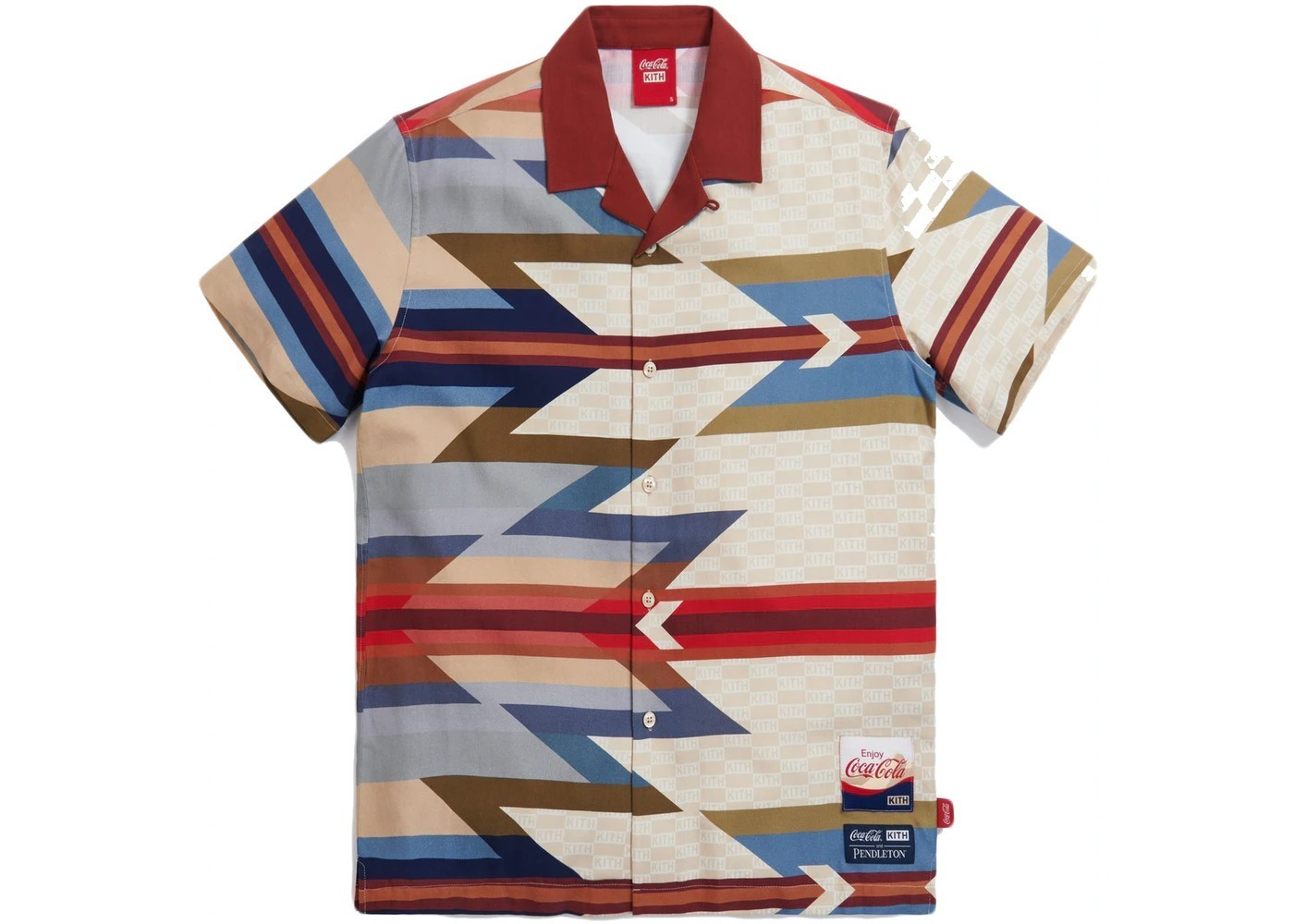 Kith x Coca-Cola x Pendleton Camp Collar Shirt Maroon/Multi の写真