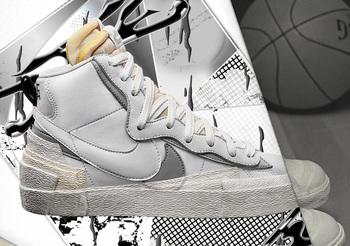 【2019年9月19日発売】Sacai × Nike Blazer Mid についての写真