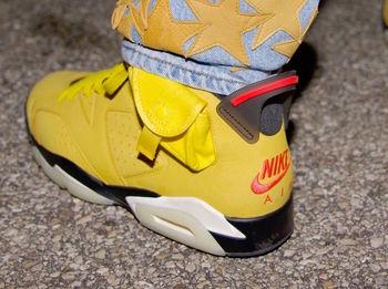 【リーク】Travis Scott × Nike Air Jordan 6 Yellow についての写真
