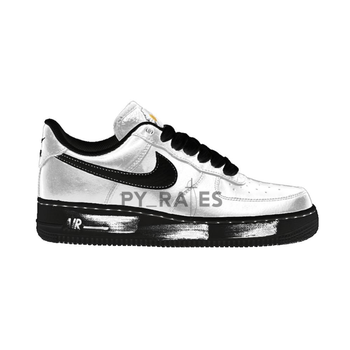 "【2020年発売予定】Peaceminusone × Nike Air Force 1 ""Para-Noise"" White Black についての写真"